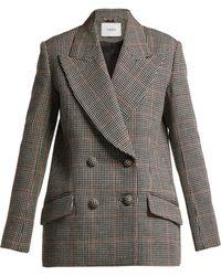 Erdem Jasper Houndstooth Checked Wool Blazer