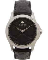 Gucci - G Timeless Gg Embossed Leather Watch - Lyst
