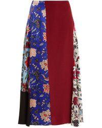 Diane von Furstenberg - Bias Draped Paneled Skirt - Lyst