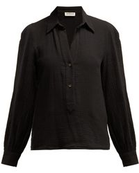 MASSCOB Luana Textured Cotton Shirt - Black
