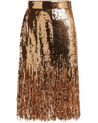 MSGM - Shredded Sequin Skirt - Lyst