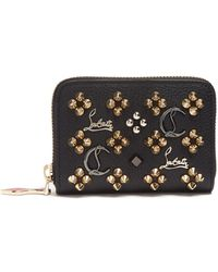 Christian Louboutin Panettone Loubisky Leather Coin Purse - Black