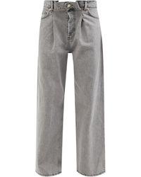 Raey Fold Organic-cotton Dad Baggy Boyfriend Jeans - Grey