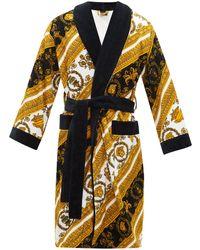 Versace Baroque Print Cotton Terrycloth Robe - Multicolour