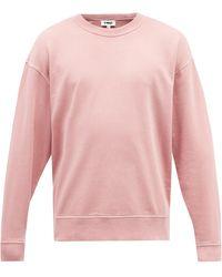 YMC デイジー コットン スウェットシャツ - ピンク