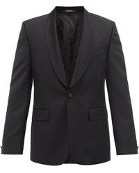 Givenchy ショールラペル ウールモヘア シングルジャケット - ブラック
