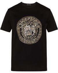 Versace - Medusa Head Sequinned Motif T Shirt - Lyst