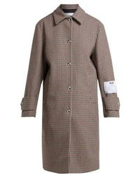 MSGM - Houndstooth Wool-blend Coat - Lyst