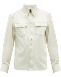 Lemaire - ポイントカラー コットンツイルシャツ - Lyst