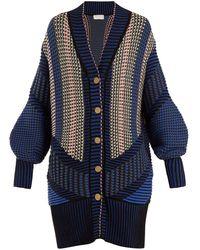 Peter Pilotto - Striped Cotton Blend Cardigan - Lyst