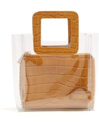 STAUD Mini Shirley Leather & Pvc Tote Bag - Multicolor