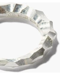 All_blues Snake Thin Sterling-silver Ring - Metallic