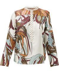 La Prestic Ouiston Romee Floral-print Silk-twill Shirt - Multicolour