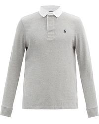 Polo Ralph Lauren - Logo-embroidered Jersey Polo Shirt - Lyst