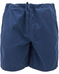 Cleverly Laundry スーパーファインコットンサテン ショートパンツ - ブルー