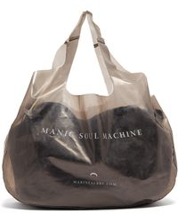 Marine Serre Printed Pvc Tote Bag - Gray