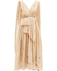 Vika Gazinskaya Painted-dot Cotton-blend Voile Dress - Natural