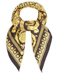 Versace - Barocco-print Silk Scarf - Lyst