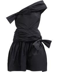 Molly Goddard メレディス ワンショルダー タフタミニドレス - ブラック