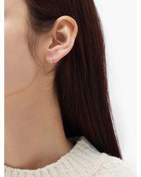 Maria Tash Eternity Diamond & 18kt Gold Single Earring - Metallic