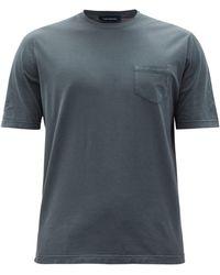 Thom Sweeney Patch-pocket Cotton-jersey T-shirt - Grey