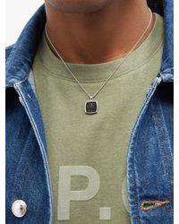 Tom Wood Clytia Onyx & Sterling Silver Pendant Necklace - Metallic