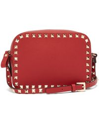 Valentino - Rockstud Leather Camera Bag - Lyst
