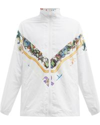 Versace Shell-print Technical Track Jacket - White