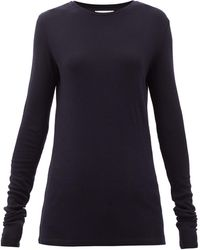 Raey T-shirt manches longues en laine biologique - Bleu