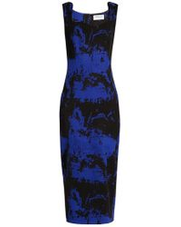 OSMAN - Eve Wool-blend Crepe Dress - Lyst