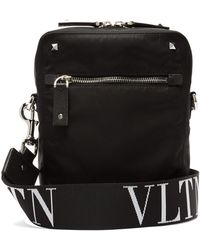 Valentino - Vltn Logo Strap Cross Body Bag - Lyst