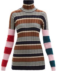 Colville Striped Virgin Wool-blend Ribbed Jumper - Multicolour
