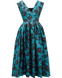 Marques'Almeida フローラルブロケード ドレス - ブルー