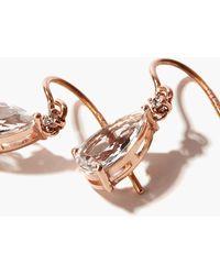 Suzanne Kalan ダイヤモンド&トパーズ 14kローズゴールドピアス - メタリック