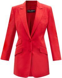Dolce & Gabbana ミカドシルクブレンド シングルジャケット - レッド
