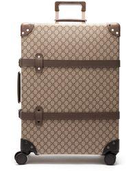 Gucci - X Globe Trotter Medium Gg Supreme Suitcase - Lyst