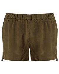Figue - Cassia Embroidered Silk Shorts - Lyst