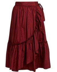 Rachel Comey - Bossa Ruffled-detail Midi Skirt - Lyst