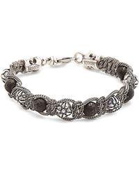 Emanuele Bicocchi - Bead-embellished Sterling-silver Bracelet - Lyst