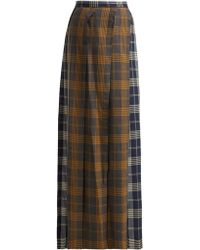Vivienne Westwood - Contrast Panel Checked Wool Skirt - Lyst