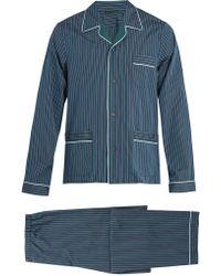 Prada - All Designer Products - Striped Cotton Pyjama Set - Lyst