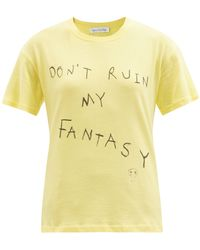 Ludovic de Saint Sernin Don't Ruin My Fantasy-print Cotton-jersey T-shirt - Yellow