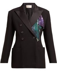 Christopher Kane - Chainmail Trim Double Breasted Tuxedo Jacket - Lyst