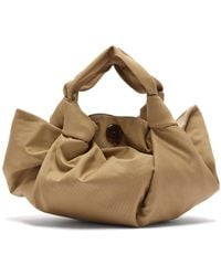 The Row The Ascot Cotton Clutch Bag - Natural