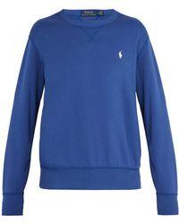 Polo Ralph Lauren - Logo-embroidered Cotton-jersey Sweatshirt - Lyst