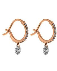 Raphaele Canot - Set Free Diamond & Pink-gold Earrings - Lyst