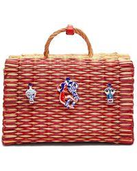 Heimat Atlantica Amor Large Basket Bag - Red