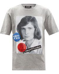 Raf Simons ポートレートプリント コットンtシャツ - グレー
