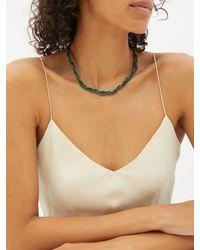 Yvonne Léon Lady Beaded Malachite, Topaz & 9kt Gold Necklace - Green