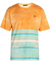 Acne Studios - Striped Cotton T Shirt - Lyst